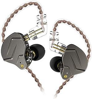 KZ ZSN Pro HiFi Headphones Wired 1DD+1BA Hybrid Balanced Armature Earphones 3.5mm Audio Plug Detachable Cable Sports Heads...