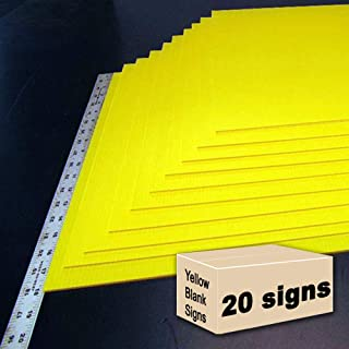 20 Yellow Blank Signs 18