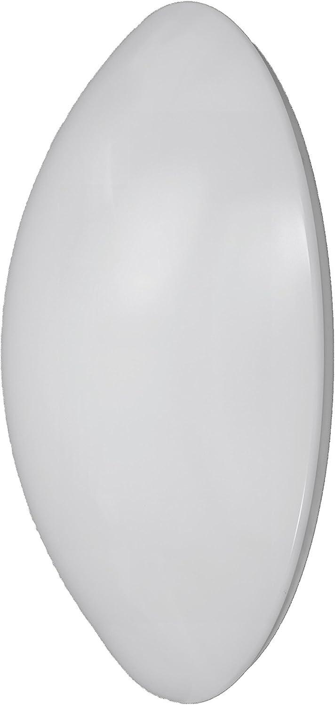 Akzentlicht LED Wand- Deckenleuchte, Diffusor PMMA, Unterteil Stahlblech, Integriert, 15 W, Neutralwei, 39 x 39 x 11 cm