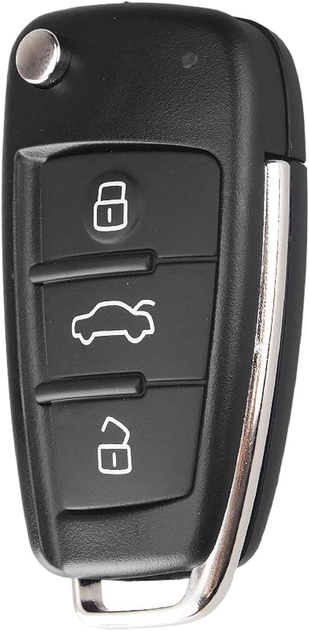 FLJKCT 3 Buttons San Francisco Mall Folding Flip Shell Case free Key Car Remote