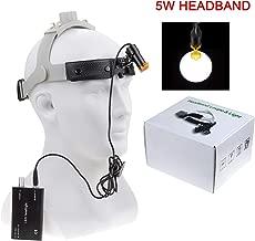 Aries Outlets Dental 5W LED Headlight High Light Spot Leather Headband Black Headlamp DY-007