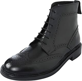 Men's Genuine Imported Leather with Rubber Sole Goodyear Welted Oxford Dress Shoes