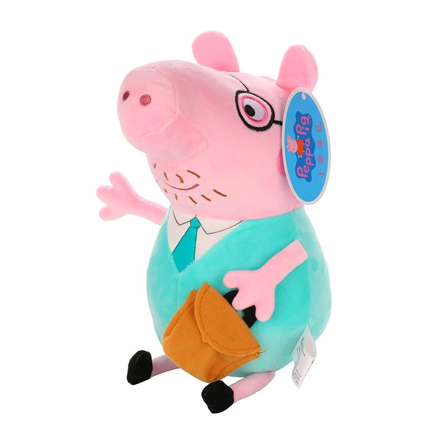 Peppa Pig Toy Figures Plush Toys Authentic 16 Characters Peppa Family & 8 Friends Stuffed Toys Pendant George Pig Best Gift for Children (12