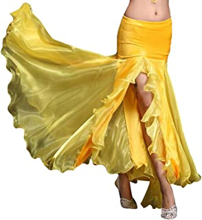 YiJee Damen Slit Tanz Kostüme Bauchtanz Rock Tribal Belly Dance Dancewear