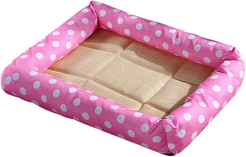 Cat Warmer Mat Summer Cool Mattress Kennel Pet Bed Cat Litter Dog Supplies (color   Pink, Size   S)