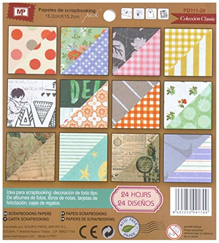 MP PD111-20 - Block de scrapbooking doble cara