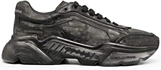 Luxury Fashion | Dolce E Gabbana Uomo CS1791AW91880999 Nero Pelle Sneakers | Autunno-Inverno 20