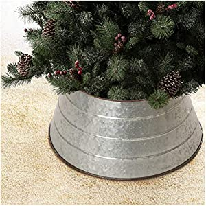"""☞ Metal material, durable, washable, waterproof ☞ The top is 15.5"""" in Diameter, and the bottom is 22"""" in Diameter, vertical height is 9.75 inch, suitable for Christmas trees with 6FT or the diameter of metal tree stand is less than 22 inch. ☞ Create ..."""