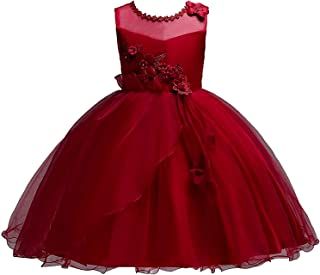 Surprise S Teenager Party Dress Pearl Petals Dress Wedding Flower Girl Dress Princess Sleeveless Mesh Pageant