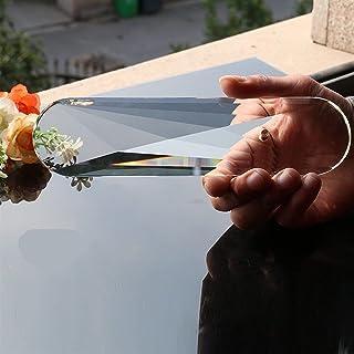 WHHHuan 1pc géant 8in Sol suncatcher de Soleil Ovale Cristaux de Verre coupé Verre Prisms Gouttes de Pendentif décor Lustr...