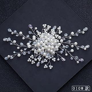 Olici Bridal Headwear White Garlands Wedding Accessories Wedding Dress Accessories Pearl Hair Band Hair Band.