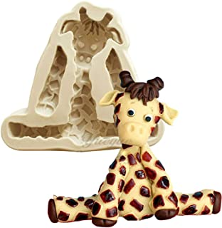 1pc Cute Lovely Animal Giraffe Silicone Mold for DIY Chocolate Jelly Shots Candy Desserts Cupcake Cake Topper Decoration Ice Cube Gum Paste Soap Mould Fondant Mold Handmade Ice Cream