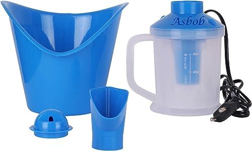 Asbob 3 In 1 Steam Vaporizer Nose Cough Steamer Nozzle Inhaler and Nose Vaporiser AH 01 Blue