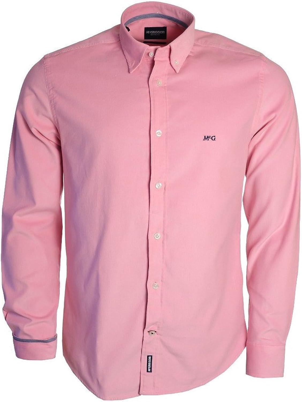 Camisa McGregor rosa Cord Fancy para hombre Rose XL: Amazon ...