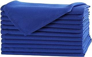 Waysle 20 x 20-Inch Napkins, 100% Polyester Washable Cloth Napkins, Set of 12, Royal Blue