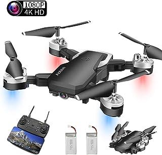 Abblie Drone con Camara Drones para Niños con Camara 1080P HD 20 Millones de Píxeles WiFi FPV Altitude Hold&Modo sin Cabeza&Devolución con un Clic Adecuado para Principiantes y niños.(2 Baterías)