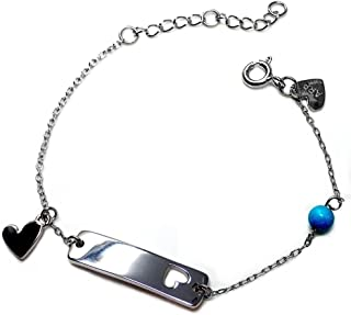 Silver Bracelet Agatha Ruiz De La Prada 14cm. Metal Heart [Ab5666Gr] - Customizable - Recording Included In Price
