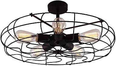 Semi Flush Mount Ceiling Light – BAYCHEER Vintage Pendant lights Industrial..