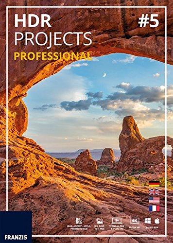 FRANZIS HDR projects 5 professional|5 professional|Für bis zu 3 Geräte|zeitlich unbegrenzt|Fotosoftware für Windows PC & Mac OS X|Disc|Disc