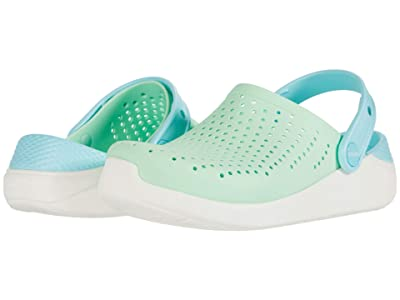 Crocs Kids LiteRide Clog (Little Kid/Big Kid) (Neo Mint/White) Kid