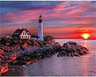 Jigsaw Puzzles 5000 Pieces for Adults (Lighthouse) Jigsaw Puzzles for Adults 5000 Piece Educational Games Home Decoration ...
