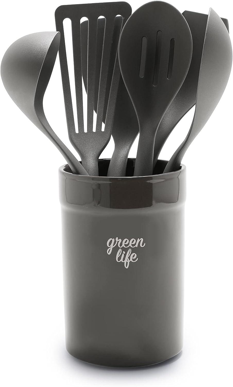 GreenLife Cooking Tools Nippon regular agency Max 41% OFF Black Crock Utensils Ceramic and