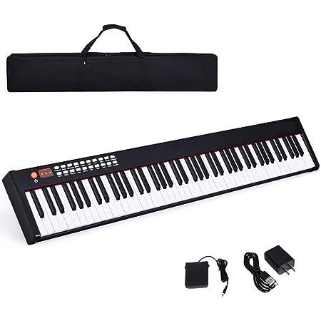 Piano Digital Sensible Al Tacto Portátil De 88 Teclas ...
