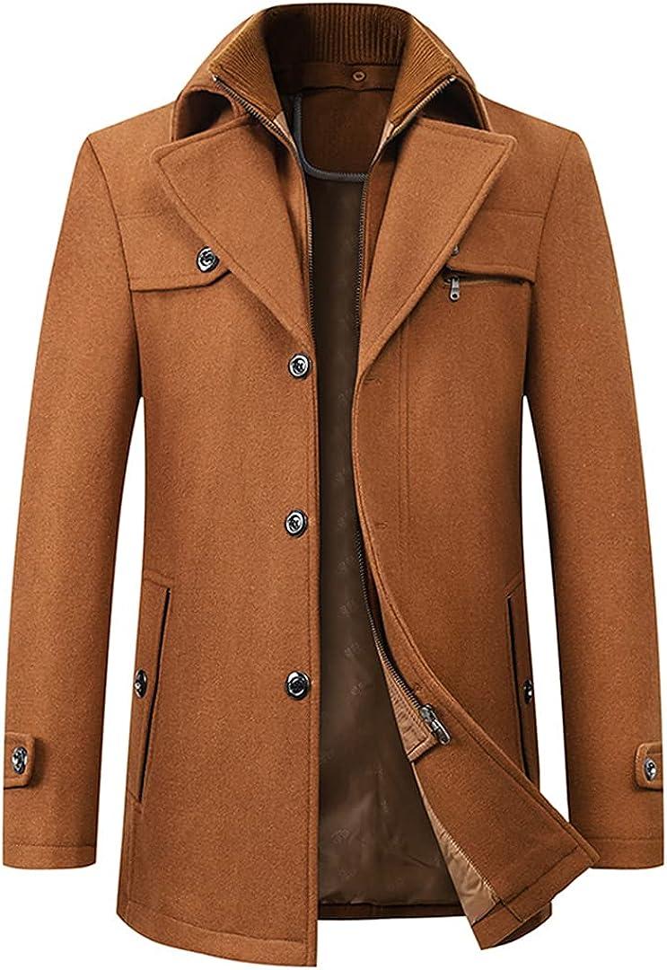 Wool Coat Men Overcoats Topcoat Mens Single Breasted Coats Jackets Winter Wool