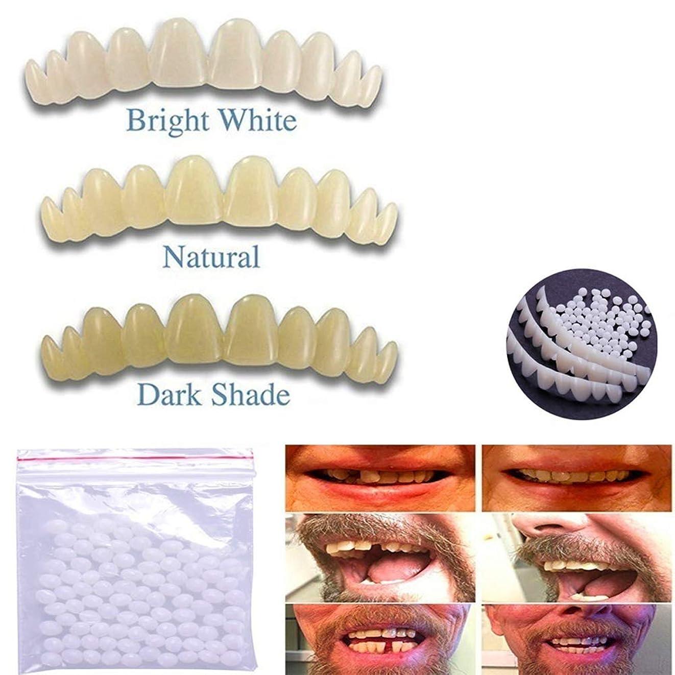 準備連鎖対応5一時的な歯の色合い1pcs 切断可能な義歯セット含まれています1バッグビーズ交換のためのパーフェクトスマイルナチュラルホワイトダーク,Mixing5PCS
