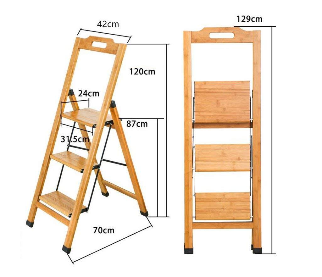 AG Ocio Banco, Muebles para el hogar Muebles Madera Maciza Casa Multifunción Escalera Plegable Escaleras Silla Escalera móvil Escalera móvil Escalera pequeña: Amazon.es: Deportes y aire libre