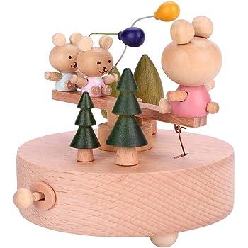Bellissimo Carillon in Legno Trenino in Legno Artigianato Musicale Compleanno Regali di Natale Decorazione Domestica Wandisy Carillon