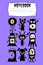 Notebook: Monsters Halloween Homework Book Notepad Composition and Journal Diary