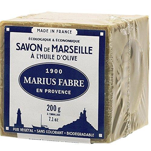 """Marius Fabre Traditionelle Seife """"Savon de Marseile"""" aus Olivenöl, 200 g"""