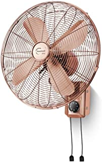 JJJJD 16 Inches European Red Bronze Retro Wall Fan 3 Speeds Adjustable, Mechanical Style/Remote Control Style (Color : Mec...