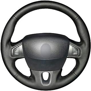 CYBHR handmade Automotive interior Car Steering Wheel Cover,for Renault Fluence Fluence ZE 2009-2016 Megane 2009-2014 Scen...