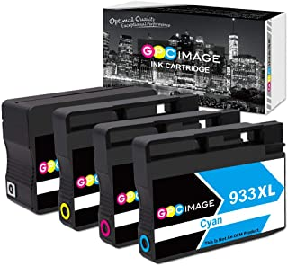 GPC Image Remanufactured Ink Cartridges Replacement for HP 932XL 933XL Ink Cartridges Combo 932 933 fit for Officejet 6700 6600 7612 6100 7610 7110 Printer (1 Black 1 Cyan 1 Magenta 1 Yellow) 4 Pack