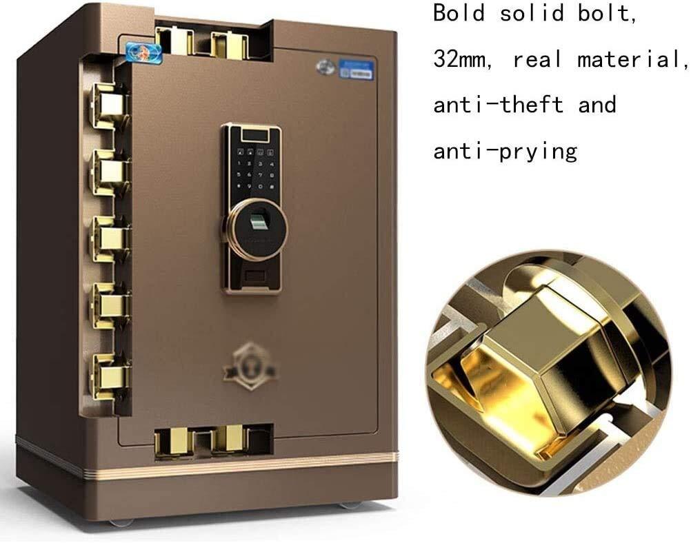 LJFYMX Caja de Seguridad Seguro, Teclado numérico, Luces, Cerradura de Acero tratada superficialmente Perno marrón gabinete Cajas Fuertes (Color : Brown): Amazon.es: Hogar
