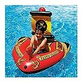 Niños Inflable Natación Pirata Barco De Pirata Barco De Flotador con Arma De Agua Juguetes De La Piscina para La Piscina Decoraciones De La Fiesta