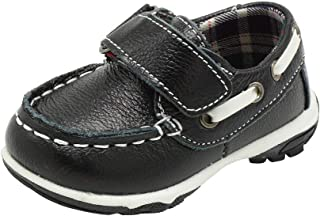 ShoBeautiful Soft Genuine Leather Toddler Boys Loafer Shoes Slip On Boat Dress Shoes(Toddler/Little Kid/Big Kid) CB5