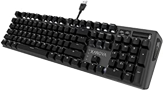 Xanova Pulsar Red Cherry Mechanical Gaming Keyboard (Black)