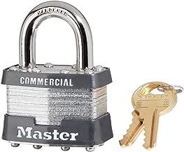 Laminated Padlocks Keyed Alike Key Code 2001, 5/16 in Diam., 3/4 in W, Silver, Sold as 6 EA