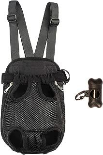 Petsidea Legs Out Dog Front Carrier Breathable Dog Chest Carrier Hands-Free Pet Holder with Wide Adjustable Shoulder Straps Bonus Dog Poop Bag Dispenser
