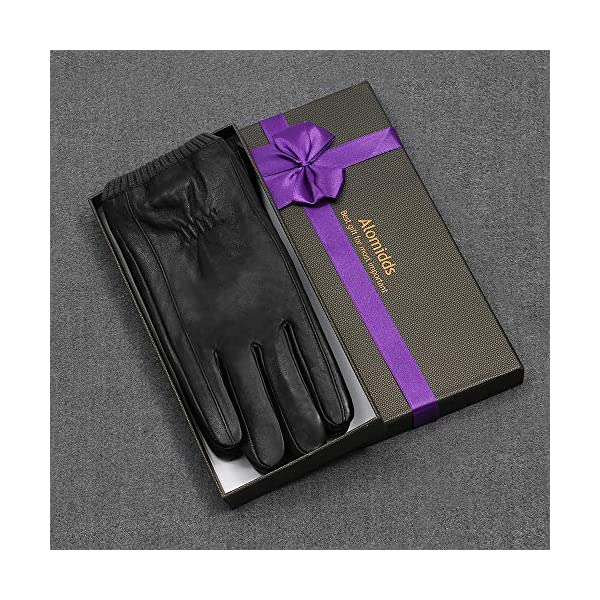 Alomidds Genuine Leather Winter Gloves 3