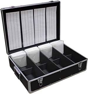 New MegaDisc 1000 CD DVD Black Aluminum Media Storage Case Mess-Free Holder Box with Sleeves no Hanger