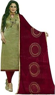 Ladyline Cotton Silk Handwork Salwar Kameez Embroidered Chiffon Dupatta