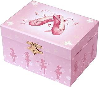Trousselier - Ballerina - Photoluminescent Music Box - Glow in The Dark - Ballerina Shoes - Pink