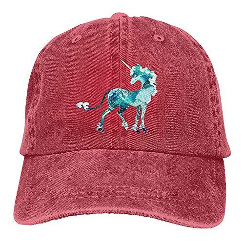 Egoa verrekijker hoed unisex water golven eenhoorn wijnoogst-chic-denim verstelbare verrekijker hoed baseballmuts