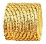 Touchstone Bangle Collection Exklusive Glasur Designer Schmuck spezielle Armreifen Armbänder für Damen 2.62 Set 2 Gold