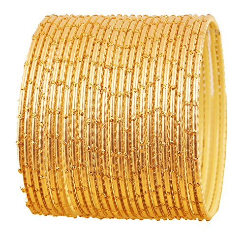 Touchstone Bangle Collection exklusive Glasur Designer Schmuck spezielle Armreifen Armbänder für Damen 2.62 Set 2 Gold