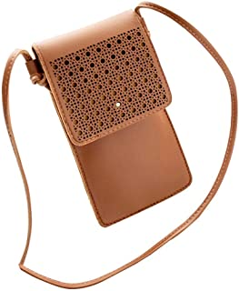 NYKKOLA Womens Wallet Bag Leather Coin Cell Phone Purse Handbag Mini Cross-body Shoulder Bag with Strap